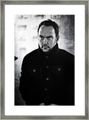 Dave Matthews In Black And White Framed Print by The  Vault - Jennifer Rondinelli Reilly