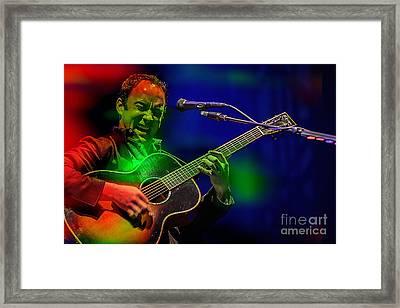 Dave Matthews Framed Print by Marvin Blaine