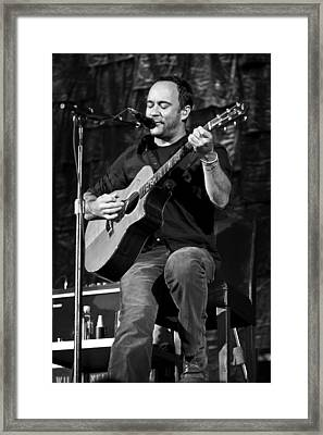 Dave Matthews On Guitar 9  Framed Print by Jennifer Rondinelli Reilly - Fine Art Photography