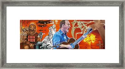 Dave Matthews The Last Stop Framed Print by Joshua Morton