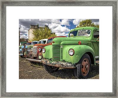 Dave's Old Truck Rescue Framed Print by Kyle Wasielewski