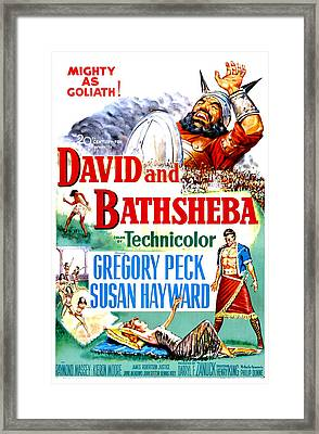 David And Bathsheba, Us Poster, Bottom Framed Print by Everett