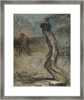 David And Goliath, C.1857 Framed Print by Edgar Degas
