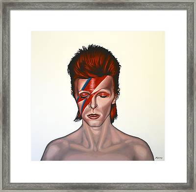 David Bowie Aladdin Sane Framed Print by Paul Meijering