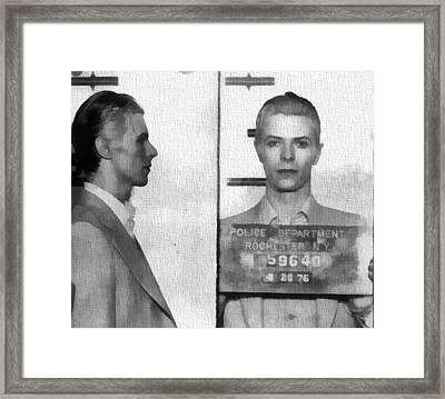 David Bowie Mug Shot Framed Print by Dan Sproul