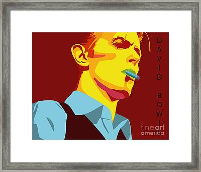 David Bowie Framed Print by Patrick Collins