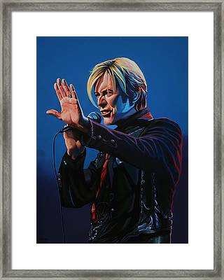 David Bowie Painting Framed Print by Paul Meijering