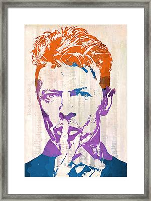 David Bowie Framed Print by Paulette B Wright