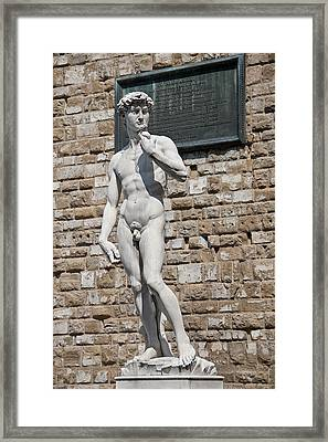 David By Michelangelo Framed Print by Melany Sarafis