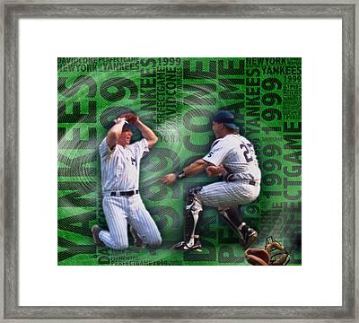 David Cone Yankees Perfect Game 1999 Framed Print by Tony Rubino