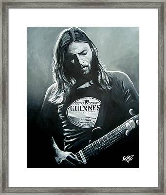 David Gilmour Framed Print by Tom Carlton