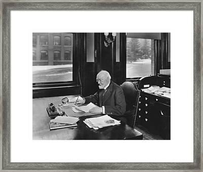 David Hale Fanning Framed Print by Underwood Archives