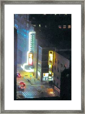 David Letterman Show Theater On Broadway E5 Framed Print by Bud Anderson