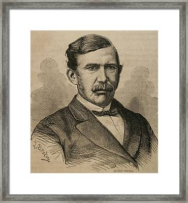 David Livingstone 1813-1873. Engraving Framed Print by Bridgeman Images