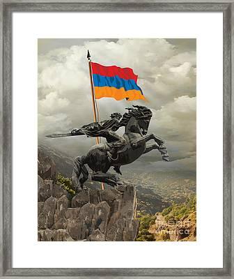David Of Sassoun Framed Print by Bedros Awak