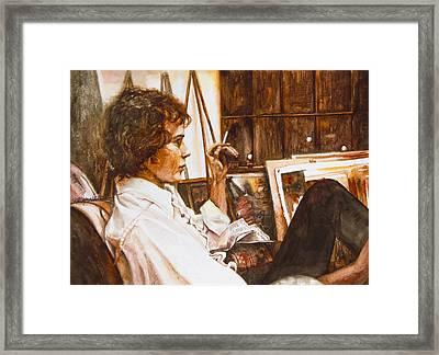 David Framed Print by Patricia Allingham Carlson