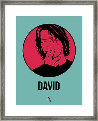 David Poster 3 Framed Print by Naxart Studio