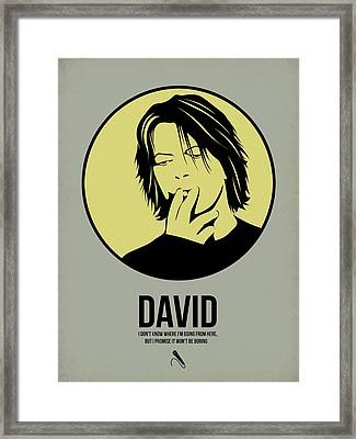 David Poster 4 Framed Print by Naxart Studio