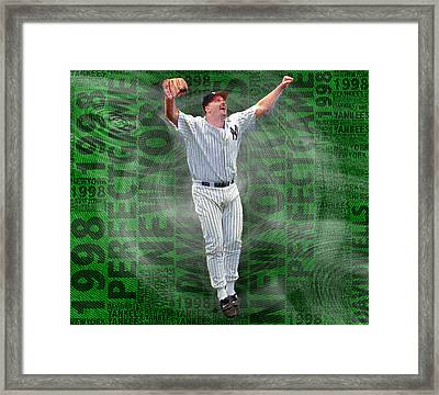 David Wells Yankees Perfect Game 1998 Framed Print by Tony Rubino