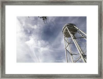 Davis Water Tower Framed Print by Juan Romagosa