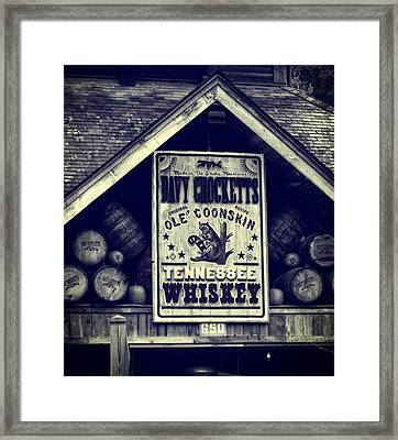 Davy Crocketts Tennessee Whiskey Framed Print by Dan Sproul