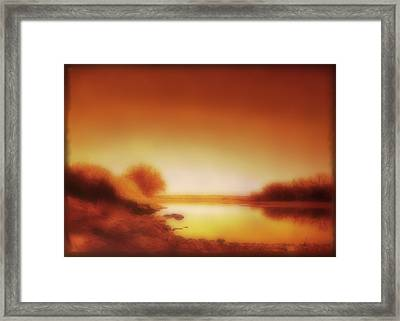 Dawn Arkansas River Framed Print by Ann Powell