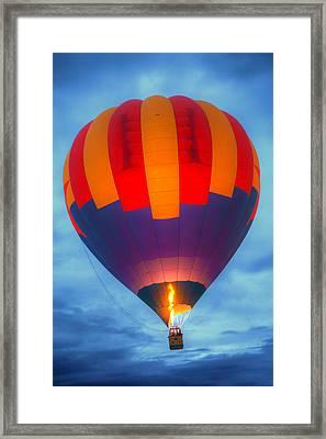 Dawn Ascension - Hot Air Balloon Framed Print by Nikolyn McDonald