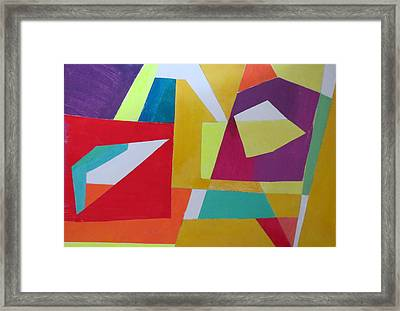Abstract Angles Vii Framed Print by Diane Fine