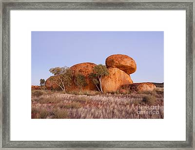 Dawn Devils Marbles Northern Territory Framed Print by Colin and Linda McKie
