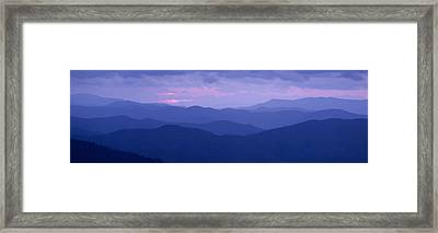 Dawn Great Smoky Mountains National Framed Print by Panoramic Images