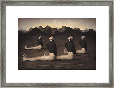 Dawn Framed Print by Odd Nerdrum