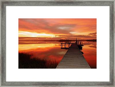 Dawn Of New Year Framed Print by Karen Wiles