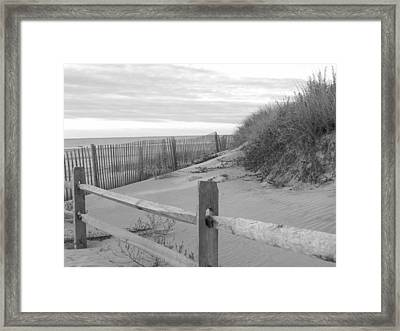 Dawn On The Dunes Framed Print by Buddy Green