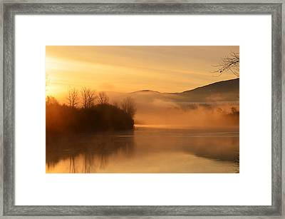 Dawn On The Kootenai River Framed Print by Annie Pflueger