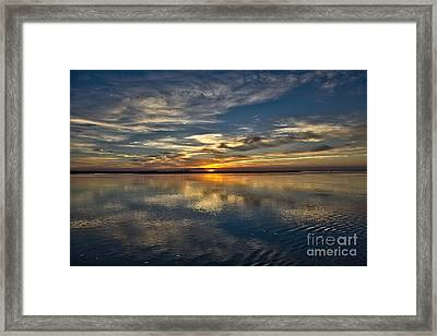 Dawn Over The Docks Framed Print by English Landscapes