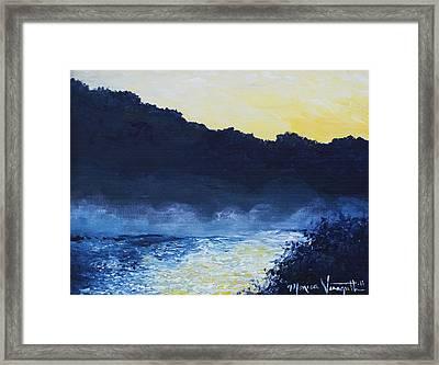 Dawn Reflections Framed Print by Monica Veraguth