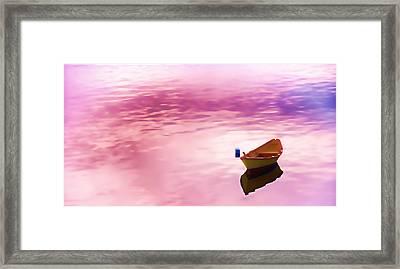 Dawns Light Reflected Framed Print by Jeff Folger