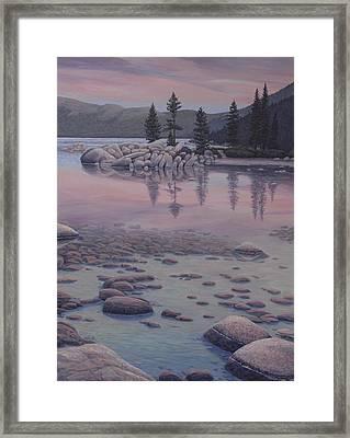 Dawn's Stillness Framed Print by James English Babcock