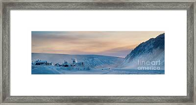 Dawson City Ice Bridge Framed Print by Priska Wettstein