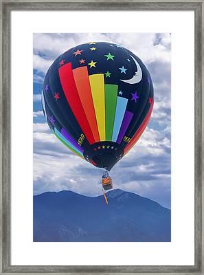 Day And Night - Hot Air Balloon Framed Print by Nikolyn McDonald