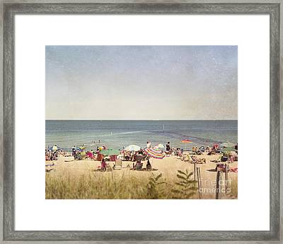 Day At The Beach Framed Print by Jillian Audrey Photography