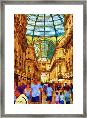 Day At The Galleria Framed Print by Jeff Kolker