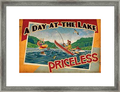 Day At The Lake Framed Print by JQ Licensing