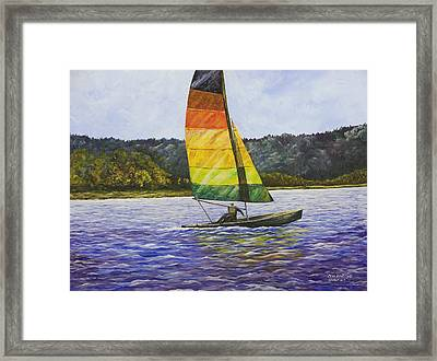 Day At The Lake Framed Print by Mary Ann King
