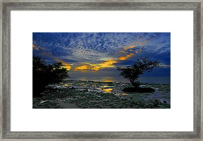 Day Break At Bahia Honda Framed Print by Phil Jensen