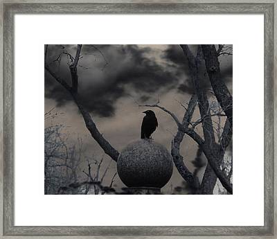 Day Dark As Night Framed Print by Gothicolors Donna Snyder