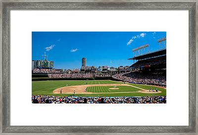 Day Game At Wrigley Field Framed Print by Anthony Doudt