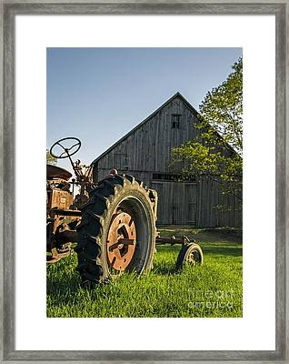 Day Is Done Framed Print by Edward Fielding