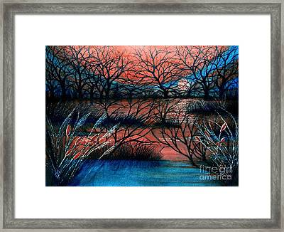 Day Is Done October Sky Framed Print by Janine Riley