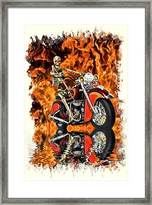 Day Of Reckoning Framed Print by Steven Agius